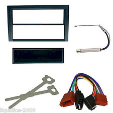 SKODA FABIA 2003 - 2006 BLACK SINGLE DIN FASCIA FACIA FITTING PACKAGE KIT