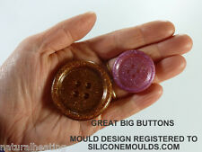 GREAT BIG BUTTONS Chocolate Ice Candy Cake Topper Silicone Bakeware Mould Mold