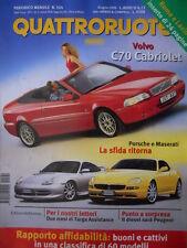 Quattroruote 524 1999 - Sfida tra Porsche e Maserati - Volvo C70 Cabri     [Q34]