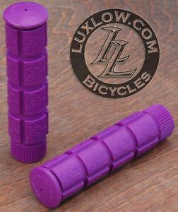 Purple Fixie Track Bike Grips Fixed Gear Old School BMX Cruiser MTB Bicycle Grip