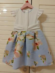 Ted Baker Girls Floral Dress Age 3-4 Years