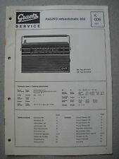 ITT/GRAETZ Pagino Netzautomatic 302 Service Manual