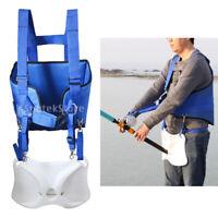 Adjustable Fishing Fighting Belt Padded Waist Gimbal Stand Up Rod Holder Harness