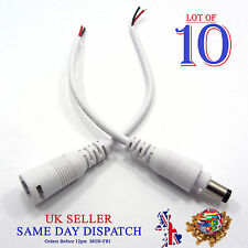 10x 12V DC 2.1mm Male + Female Plug Power Cable Conector Power Supply CCTV LED