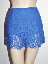 LILY WHYT Designer Royal Blue Lace Shorts Size 8/XS BNWT #SX109