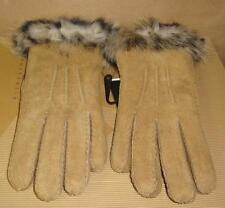 UGG Australia Chestnut Suede Shearling TOSCANA Gloves Size Large NWT U1916