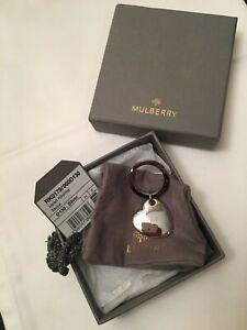 Authentic Mulberry Schlüsselanhänger, Keyring Silber mit Staubbeutel, Karton Neu