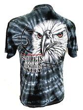 Sturgis 2009 Motorcycle Rally T-Shirt Eagle Tie-Dye Blue-Black  South Dakota