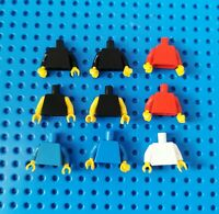 Lego 9x Figur Torso Oberkörper + Hände Jacke blank 973 rot weiß blau schwarz (80