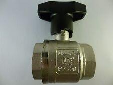 "Wesa ISO-Therm-Kugelhahn IG/IG 1 1/2"" PN20 DN40 MS58 Messing Neu, Art.Nr.: 680"