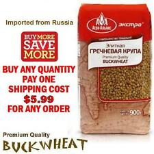 Premium Quality BUCKWHEAT groats - (1) One Pack (900gr) - Imported from Russia