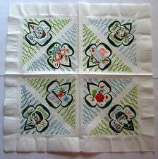 Vintage Girl Scout 1970's ONE COLORFUL PAPER NAPKIN FOR DISPLAY Cadette Sr. NEW