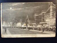 Vintage Postcard>1908>Revere Beach>Bouvelvard at Night>Massachusetts