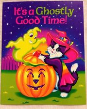 Vintage Lisa Frank Halloween Magic Invitations Witch Cat Ghost Pumpkin 8 Invites