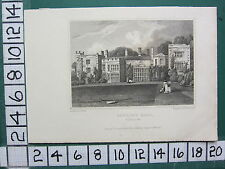1830 DATED ANTIQUE YORKSHIRE PRINT ~ BOWLING HALL