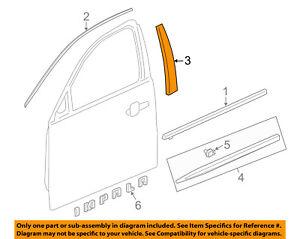 Chevrolet GM OEM 14-18 Impala Front Door-Applique Window Trim Left 23377432
