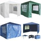 300x300CM Garden Gazebo Marquee Canopy Awning Party Wedding Tent Full Sidewalls
