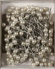 "Pearl Corsage Pins 1"" Craft Pins 144 Pieces Per Box White 08338322"