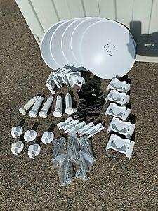 (5) Used Complete Ubiquiti PowerBeam kits M5 PBE-M5-400 5GHz airMAX + POE