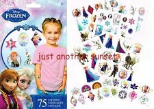 Disney Frozen Anna Elsa Olaf Party Favor Lot of 75 Temporary Tattoo's Body Art