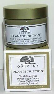 ORIGINS plantscription youth renew power night cream full size 1.7 oz 50 ml NEW