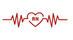 RN Registered Nurse Heartbeat Rhythm Vinyl Decal Window Sticker Car