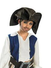 CHILDS PIRATE JACK SPARROW TRICORN HAT COSTUME DG18780
