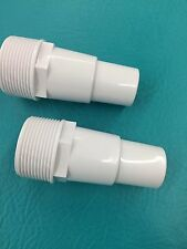 "2 Pool Filter Pump HOSE ADAPTER 1 1/4""-1 1/2"" Thread 1.5"" Fitting Connector PVC"