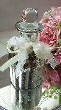 Vintage Shabby Chic Yellow Glass Stripe Arabian Perfume Bottle Rare Stunning New