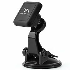 Tech Armor Universal Magnetic Car Mount, Windshield Suction Cup - Black