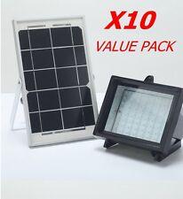 BIZLANDER Outdoor Waterproof 60LED Solar power floodlight X10 VALUE PACK