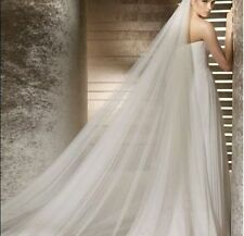 white 3m Length 2t Wedding Bridal Cathedral veil with Comb bride mantilla