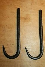 Antique Style Wrought Iron Beam Hooks Pair Meat Beam Butchers Screw In