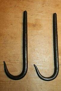 Vtg Wrought Iron Swivel Double Hook Meat Hanging Butchers beam Hook barn decor