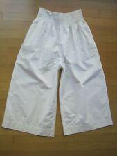 Madewell White Crop Wide Leg Pants Capri Flare  Women's Size Large