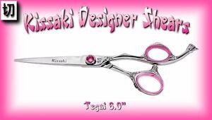 """Kissaki Hair Scissors 6.0"""" Tegai Rose Salon Hairdressing Hair Cutting Shears"""