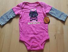 Halloween 6 9 Month Baby Girl I'm a Little Scaredy Cat Glitter Bodysuit Pink