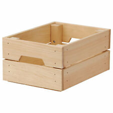 IKEA KNAGGLIG Wooden Pine Storage Crate (23x31x15cm)