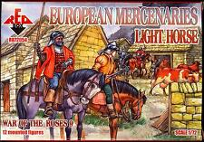 Red Box Models 1/72 WAR OF THE ROSES EUROPEAN MERCENARIES LIGHT HORSE Figure Set