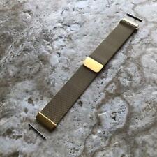 Gold Color Milanese Metal Mesh Band Strap for Garmin Venu 2 Smartwatches -B22