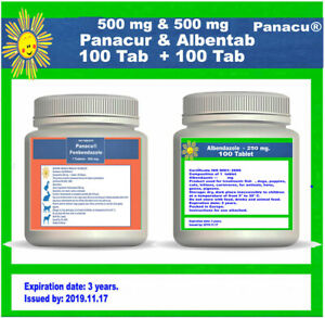 DEWORM PANACU® PANACUR 500 mg ALBETAB 500mg TABLETS DOG CAT ANIMALS Helmintazole