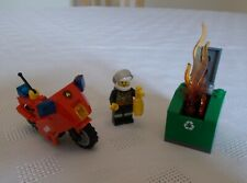 Lego City 60000: Fire Motorcycle (100% Complete + Instruction Booklets)