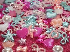 Candy Mix DIY 20g 100pcs Mixed Pearl Shapes Embellishments Flatback Decoden Kit