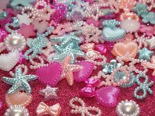 Candy Mix DIY 20g 100pcs Mixed Pearl Shapes Embellishments Flatback Decoden Kit