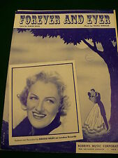 Forever and Ever Sheet music books Gracie Fields Lyrics by Malia Rosa