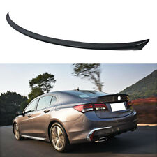 For 2017 2016 2018 Acura Tlx Abs Carbon Fiber Style Rear Trunk Spoiler Wing