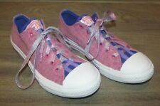 Converse Pink Candy Grape White 654233F Sparkle Glitter Strings Size 4.5 Junior