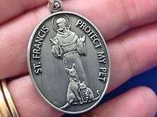 St FRANCIS Saint Anthony PET Protection Tag Saint Medal Dog Cat Puppy Kitty