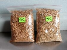 400g  OAK & BEECH WOOD CHIPS DUST FOR SMOKER BBQ FISH MEAT FOOD SMOKING