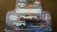 1:64 Greenlight Gulf Racing 2015 Ford F150 & 1966 Ford Bronco Hitch n Tow.